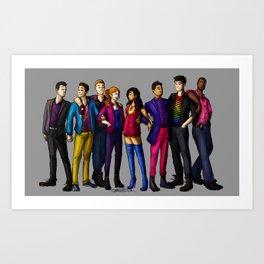 SH Squad Pride Art Print