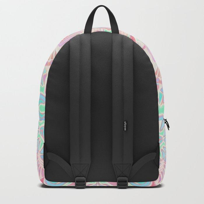 Mint and Blush Pink Painted Mandala Backpack