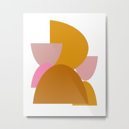 Colorful Earth Tones Organic Shapes Metal Print