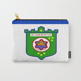 flag of tel aviv Carry-All Pouch