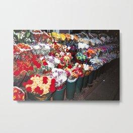 Bodega Flowers Metal Print