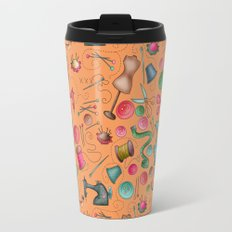 Sewing tools - naranja Travel Mug