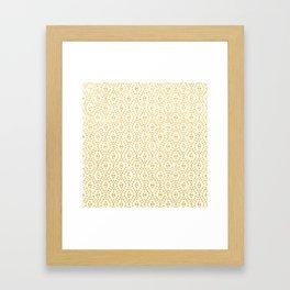 Gold Geometric Tribal Pattern Framed Art Print