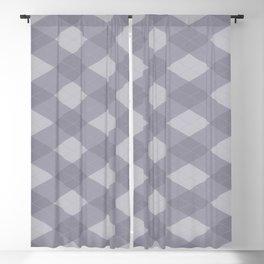 Pantone Lilac Gray Argyle Plaid Diamond Pattern Blackout Curtain