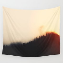 Calm Evening In Beautiful Woods Wall Tapestry
