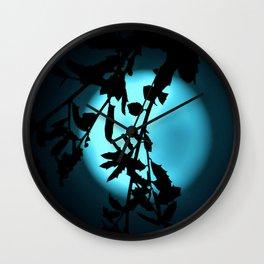 Heavenly Vines in Teal Wall Clock