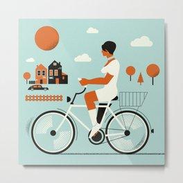 Bike riding ... Metal Print