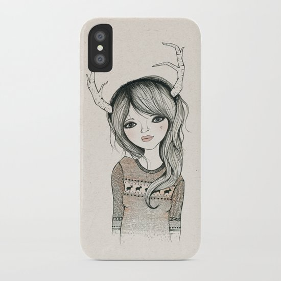 Antler Girl iPhone Case