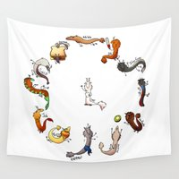 army Wall Tapestries featuring Rat Dragon Army: Batch 2 by Zennore