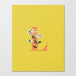L for Lisianthus Canvas Print