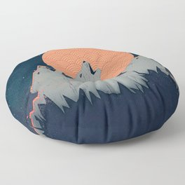 Howling Moon Floor Pillow