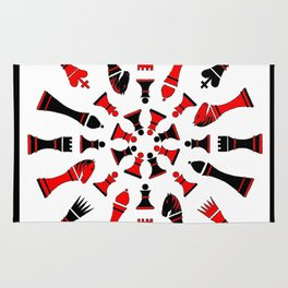 Red/Black Chessmen Rug