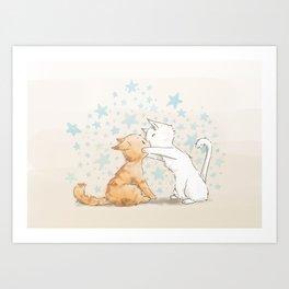 When We Kiss, I See Stars Art Print