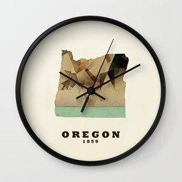 Oregon state map modern Wall Clock