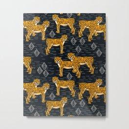 Safari Cheetah Metal Print