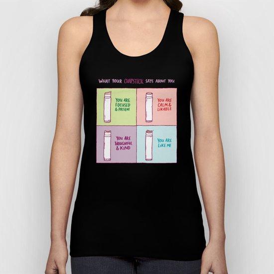 What Your Chapstick Says About You Unisex Tank Top