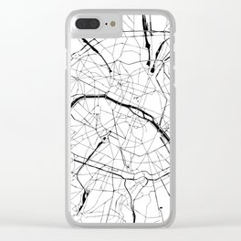 Paris Minimal Map Clear iPhone Case