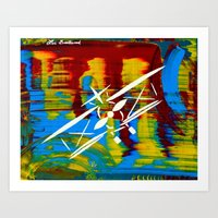 airplane Art Prints featuring Airplane by Lue Brentwood