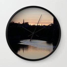 Sunset over Leith Edinburgh Wall Clock