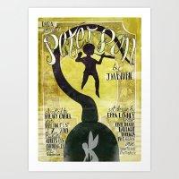 peter pan Art Prints featuring Peter Pan by Brian Coldrick