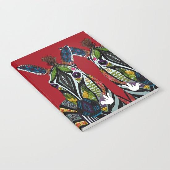 zebra love red Notebook
