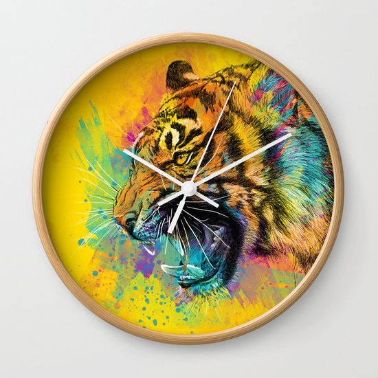 Angry Tiger Wall Clock