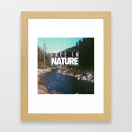 Free in Nature Framed Art Print