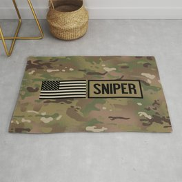 Military: Sniper (Camo) Rug