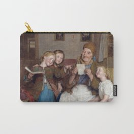 Ferdinand Georg Waldmüller Grandmother with Three Grandchildren Carry-All Pouch