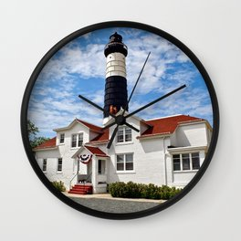 """""""Big Sable Point Lighthouse"""" #2 Wall Clock"""