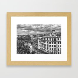 Rome Aerial Cityscape View From Campidoglio Terrace Framed Art Print