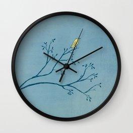 Yellow Bird Wall Clock