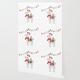 Christmas llamas V Wallpaper