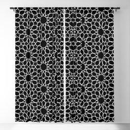 Beautiful Pattern #32 Arabic Geometry White over Black Blackout Curtain