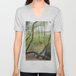 Through the willow branches Unisex V-Neck
