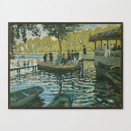 La Grenouillère, Claude Monet Canvas Print