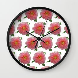 Peony Flower Print for Spring & Summer Wall Clock