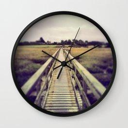 Boardwalk in Newtown Creek Wall Clock