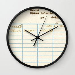 Library Card 797.B7 Wall Clock