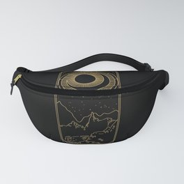 Sun and Moon - Gold Zodiac  Fanny Pack