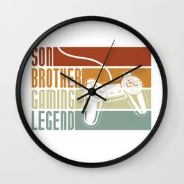 Son Brother Gaming Legend Wall Clock