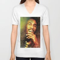 marley V-neck T-shirts featuring Marley by medal XD