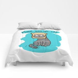 Pure bread cat Comforters