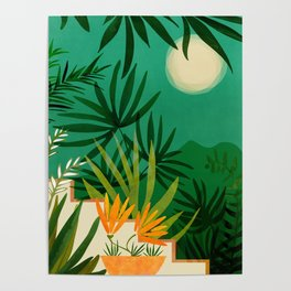 Exotic Garden Nightscape Poster