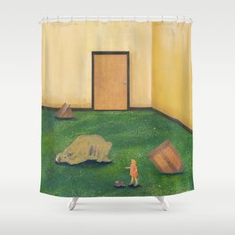 Fossilized Shower Curtain