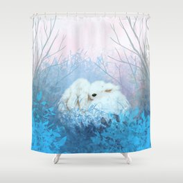 Baby Bun Buns at Dusk Shower Curtain