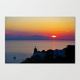 Oia Sunset Santorini Canvas Print