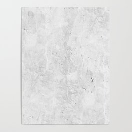 White Light Gray Concrete Poster