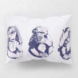 The Monkeys That Don't Speak or See Pillow Sham