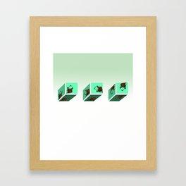 Snail Graffic FLO Framed Art Print